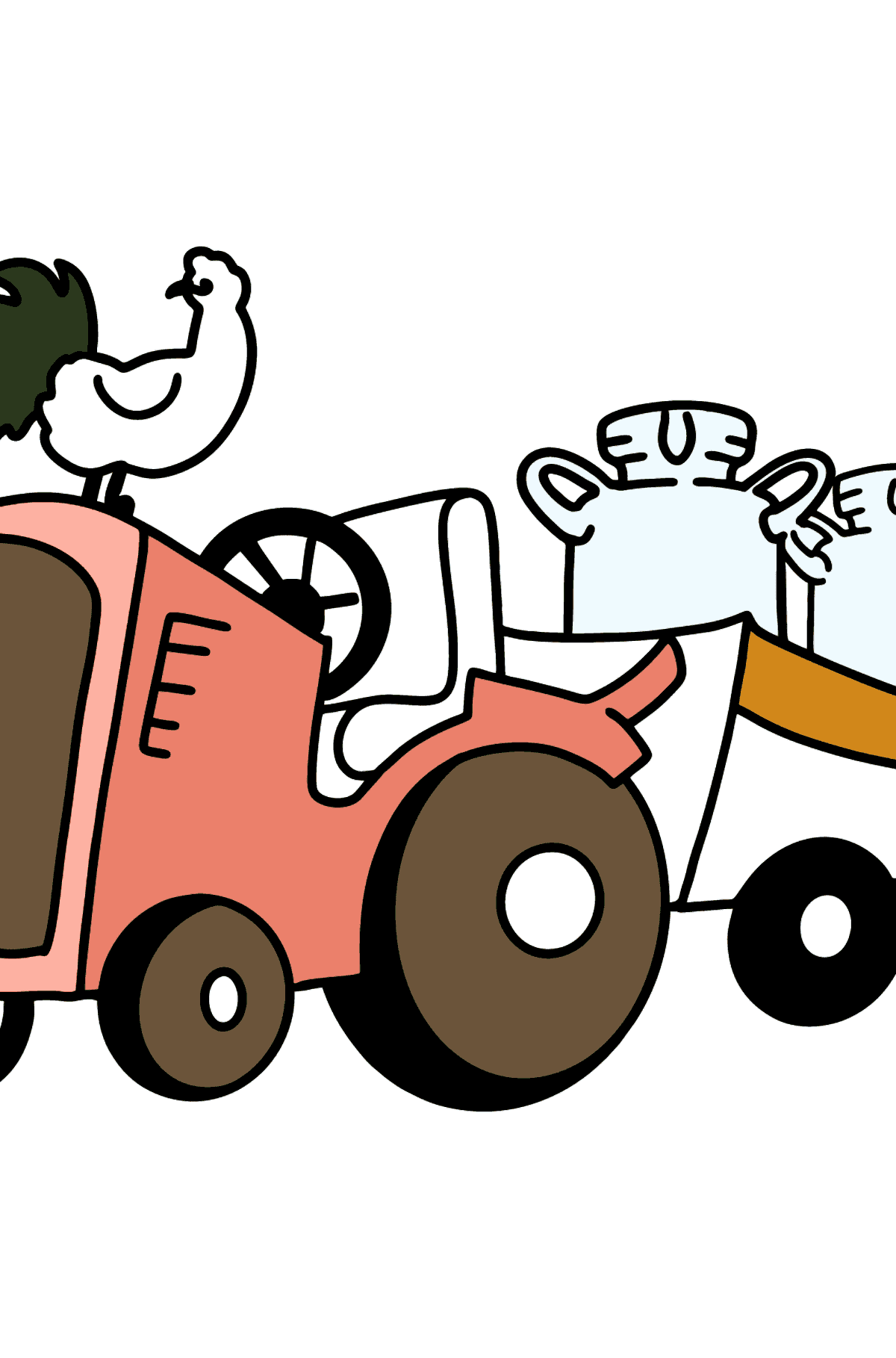 Tractor on a Farm coloring page - Coloring Pages for Kids