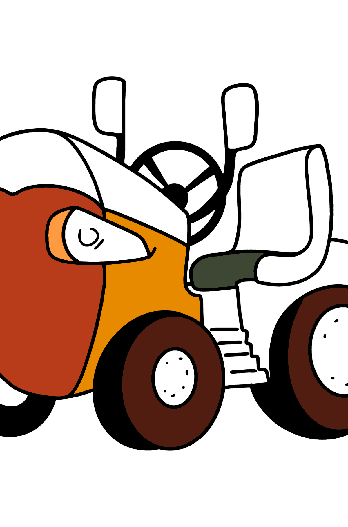 T-15 Mini Tractor Fighter coloring page - Coloring Pages for Kids