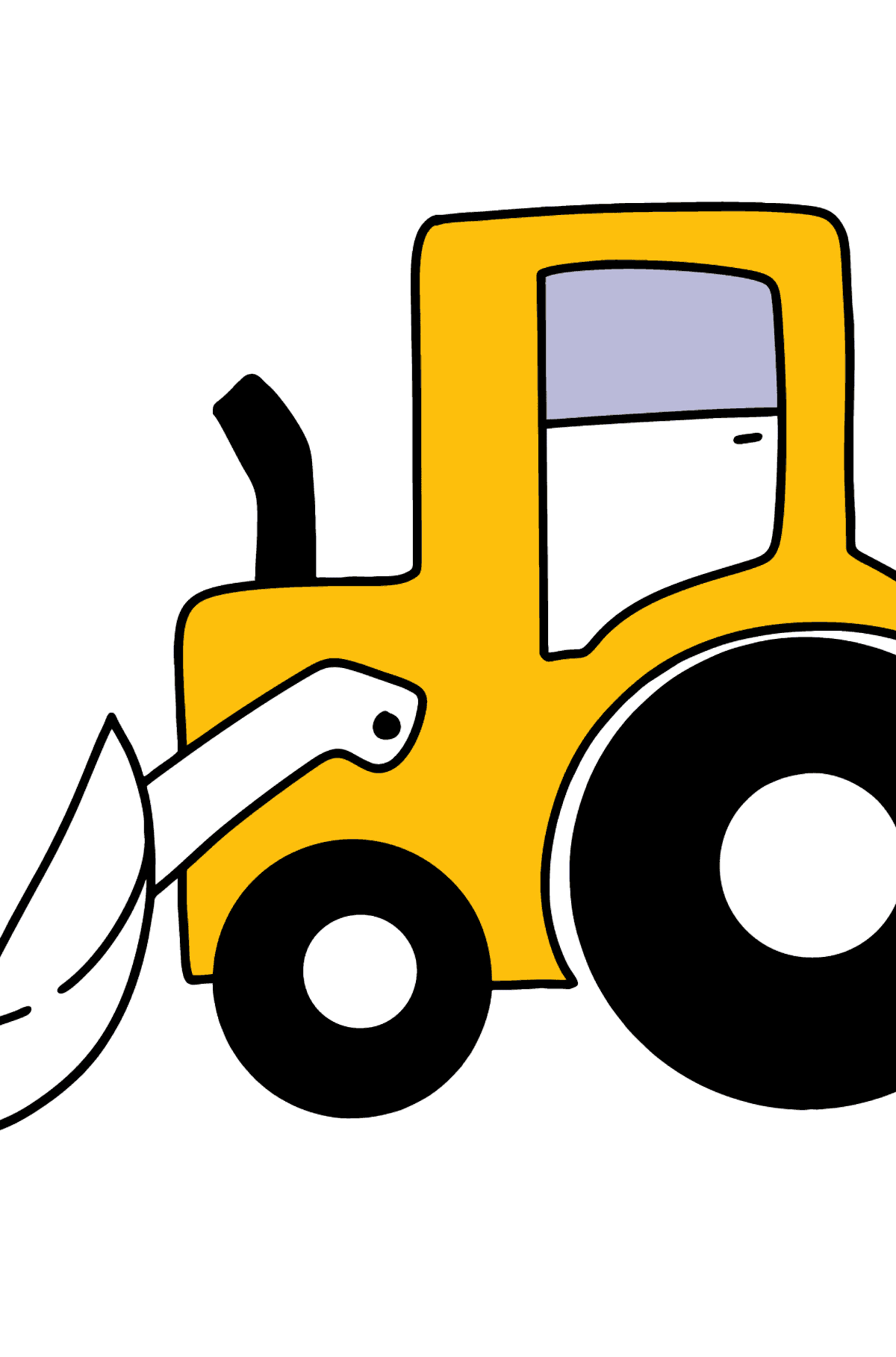 Simple Tractor coloring page - Coloring Pages for Kids