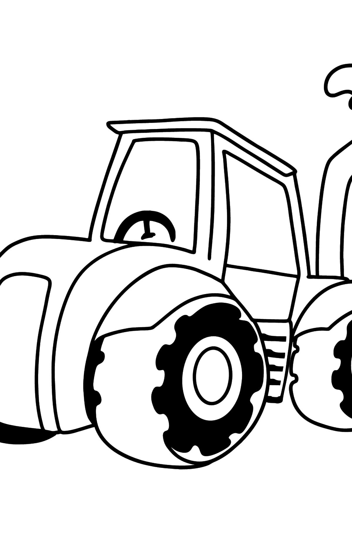 Раскраска трактор - Картинки для Детей
