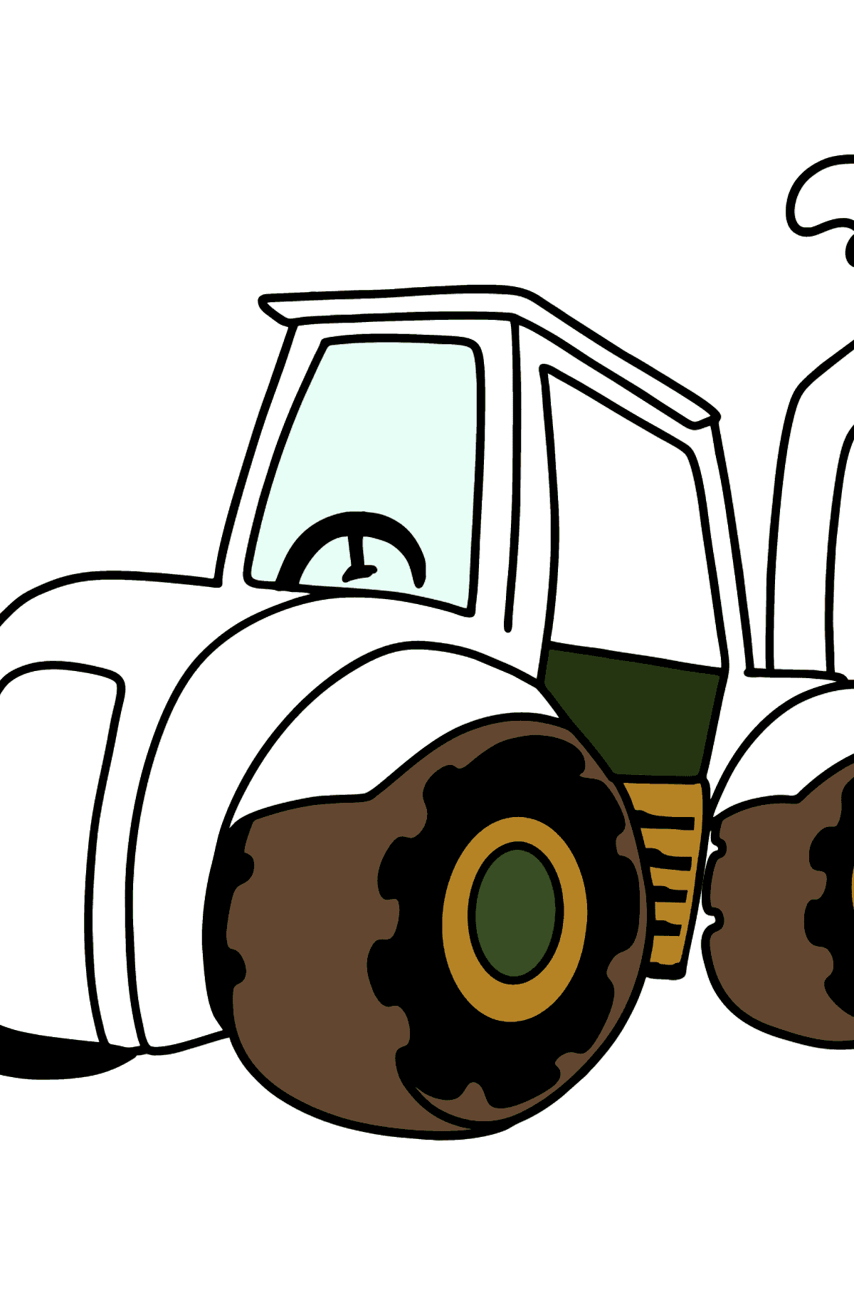 Tractor coloring page - Coloring Pages for Kids