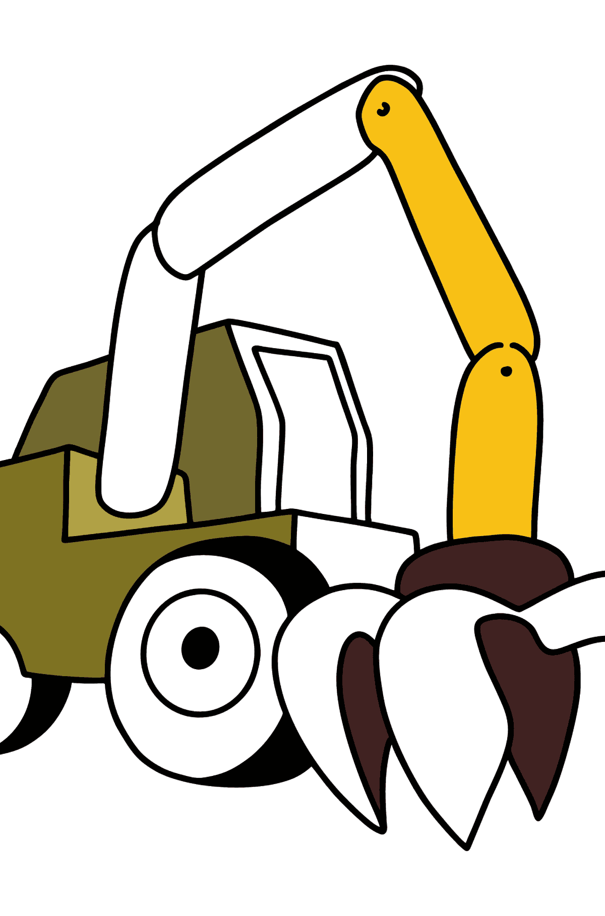 Construction Tractor coloring page - Coloring Pages for Kids
