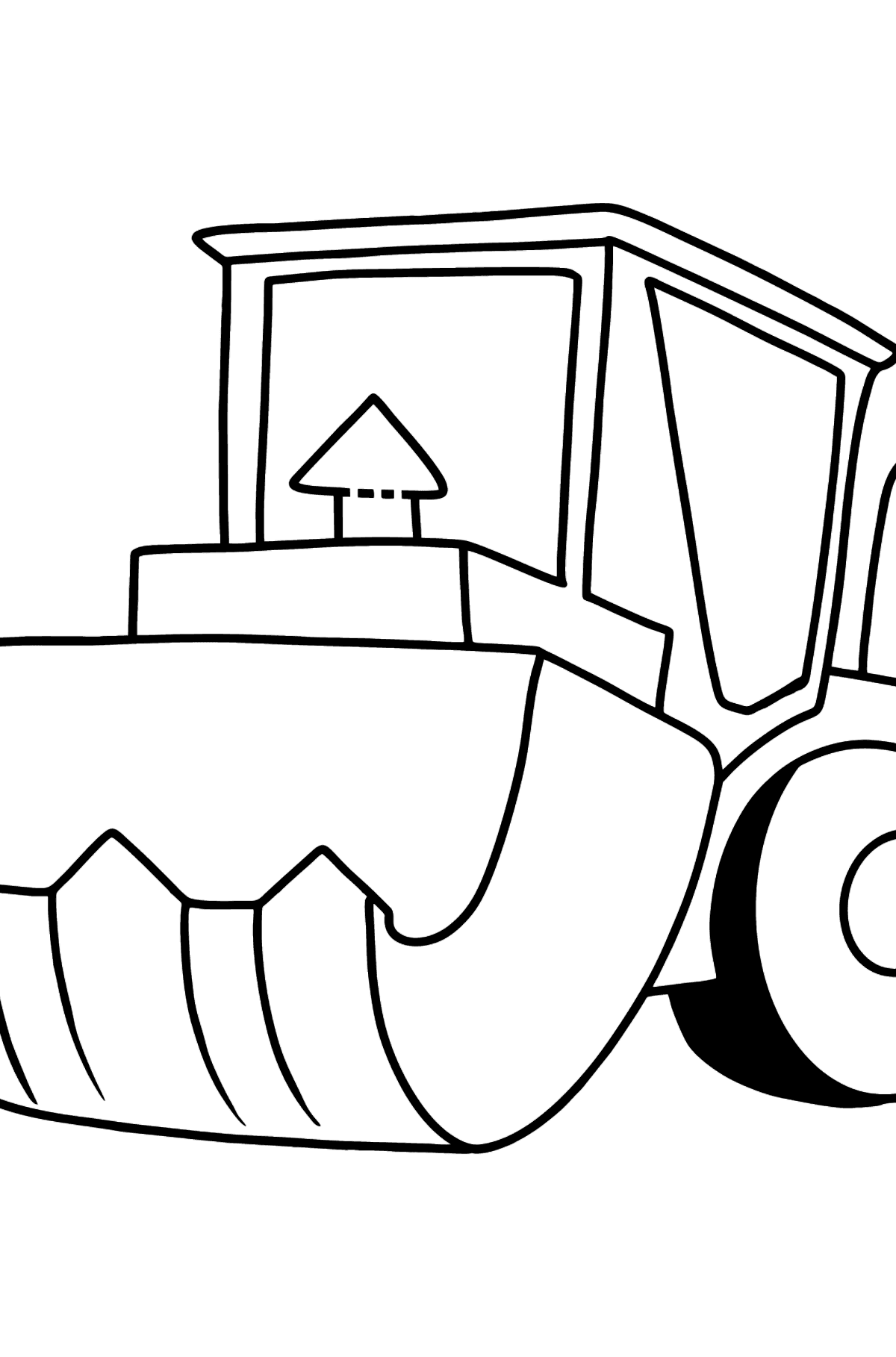 Tractor with Bag coloring page - Coloring Pages for Kids