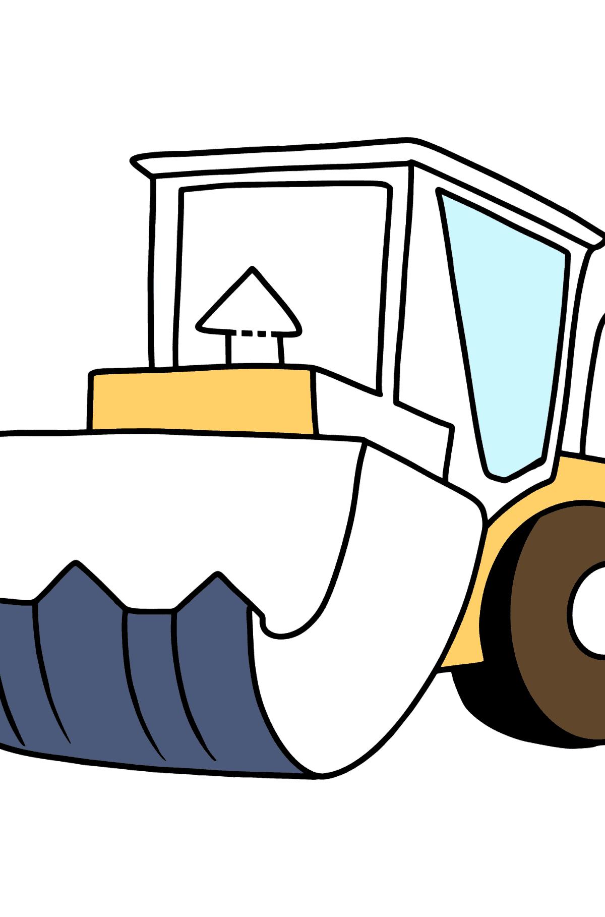 Раскраска трактор с кошвом - Раскраски для Детей