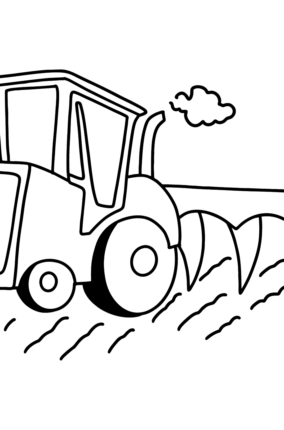 Tractor with Plow coloring page - Coloring Pages for Kids