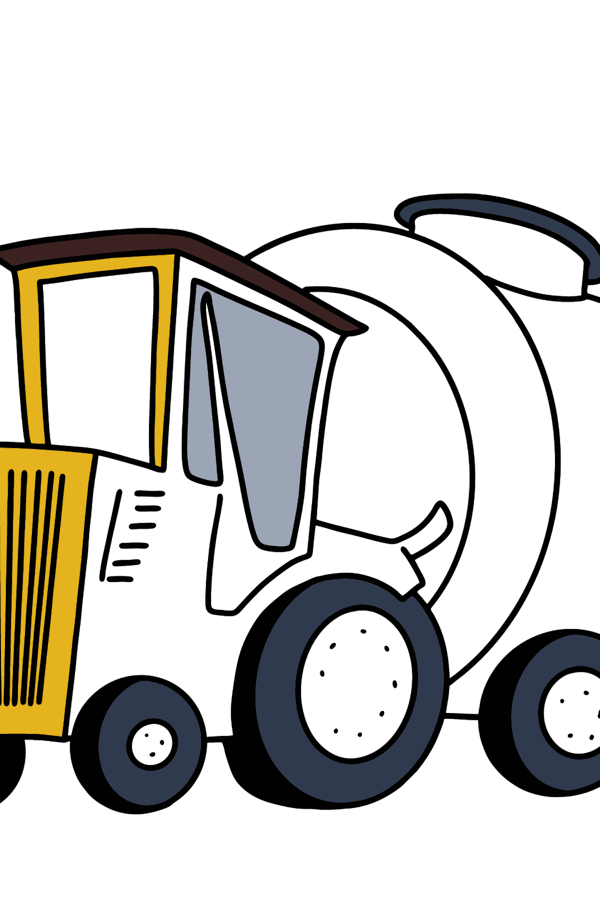 Tractor with Water Trailer coloring page - Coloring Pages for Kids
