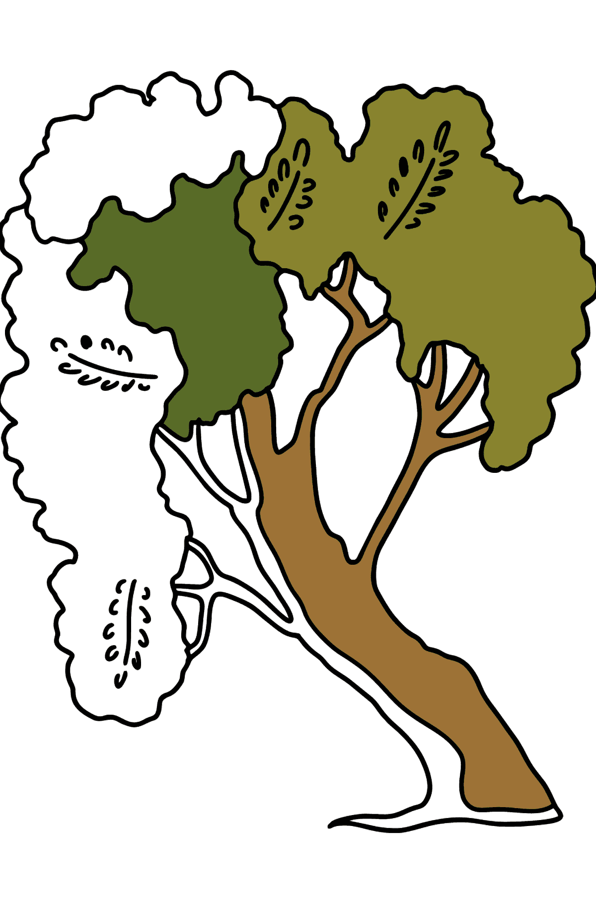 Coloriage Acacia - Coloriages pour les Enfants