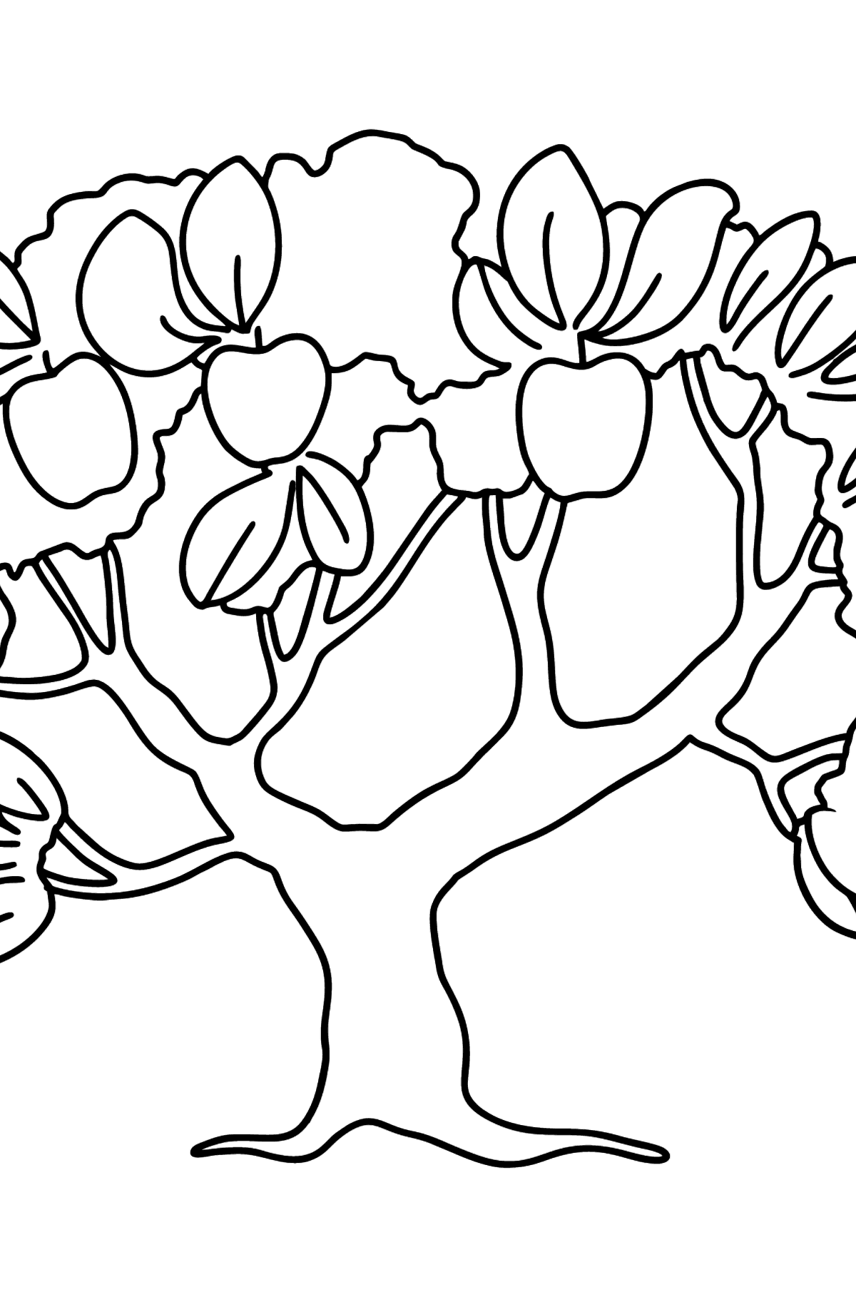 Apple Tree Difficult coloring page - Coloring Pages for Kids