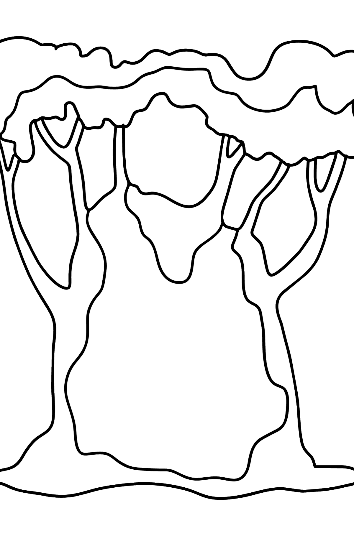 Baobab coloring page - Coloring Pages for Kids
