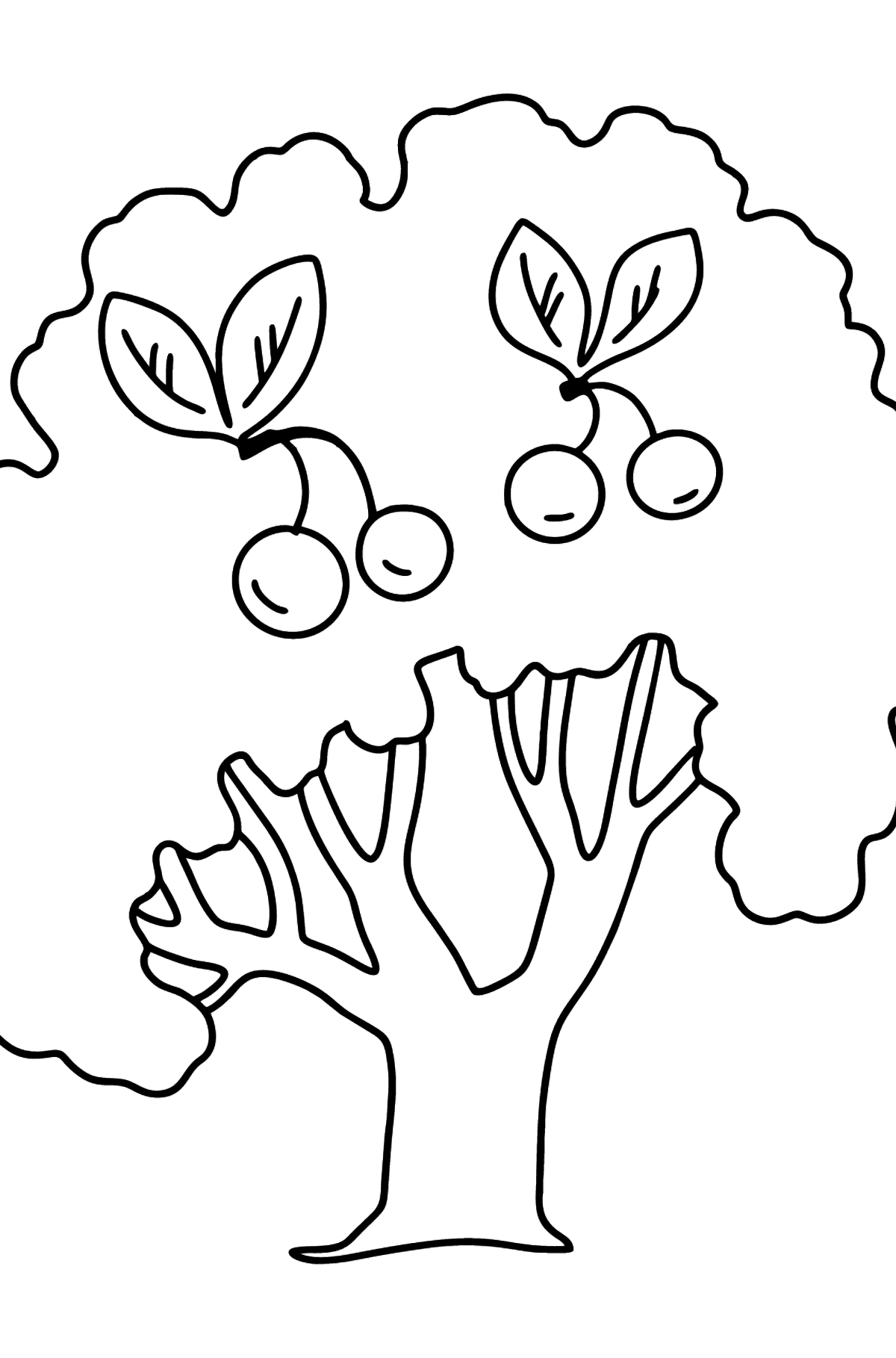 Cherry Tree coloring page - Coloring Pages for Kids