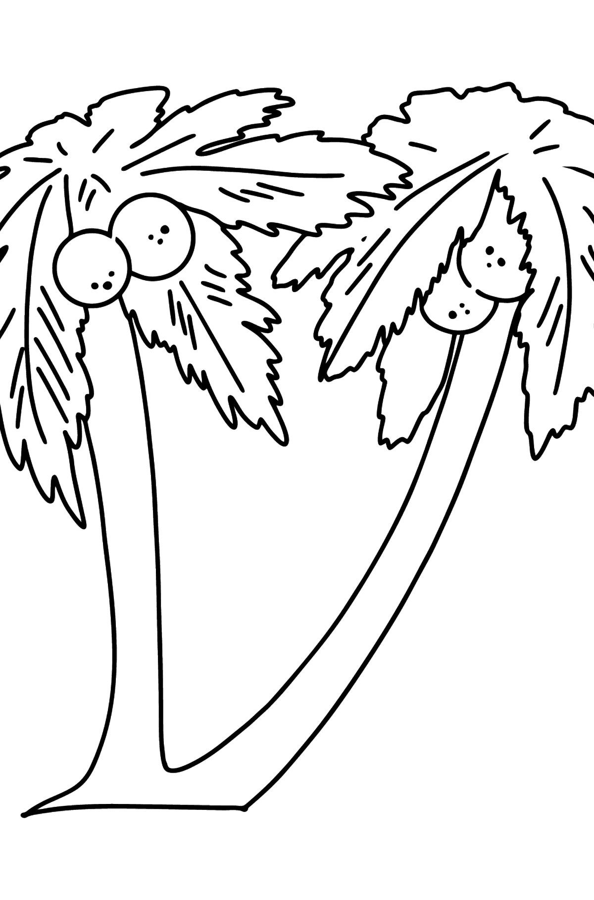 Coconut Palm coloring page - Coloring Pages for Kids