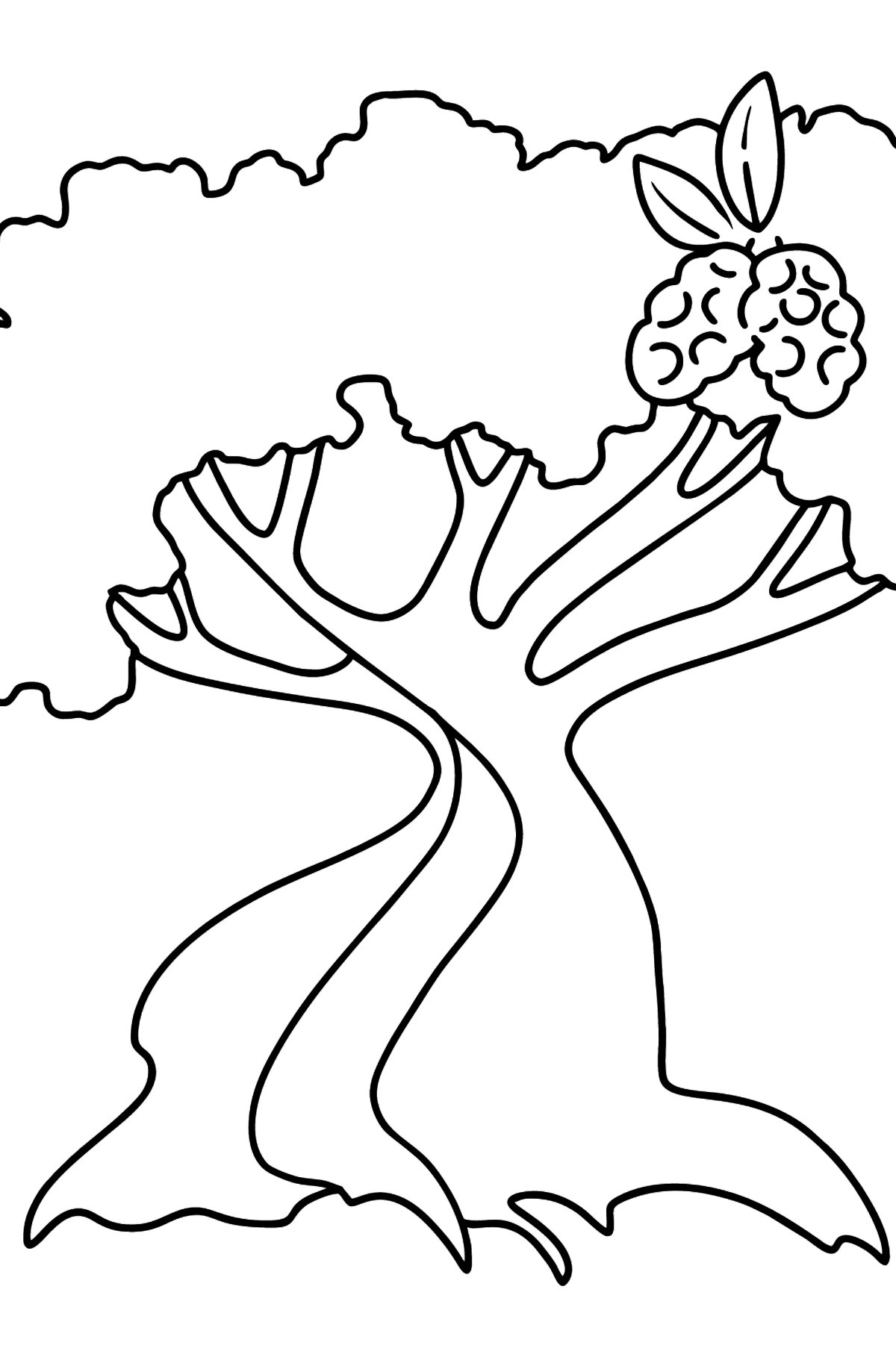Cotton Tree coloring page - Coloring Pages for Kids
