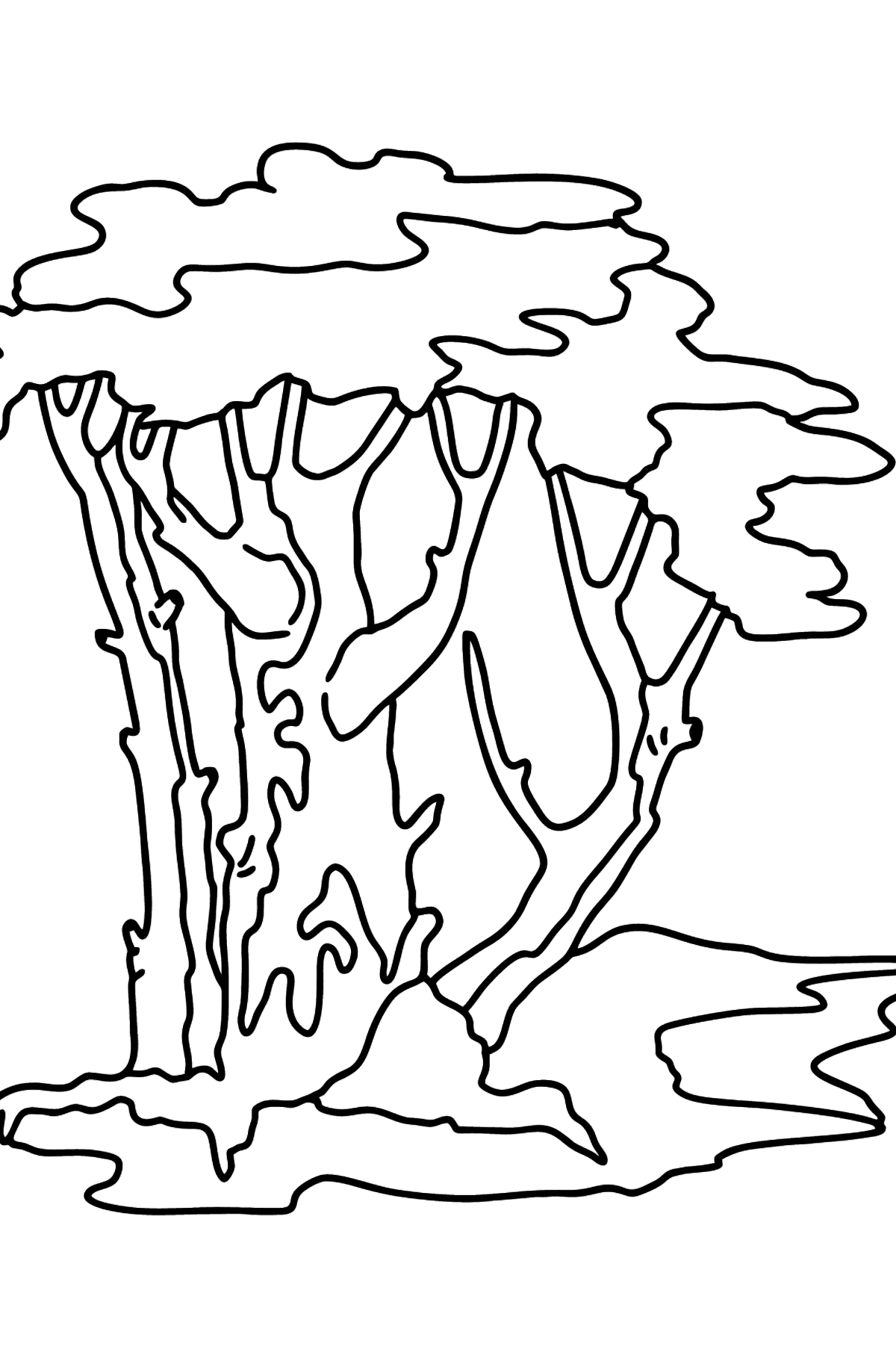 Pines coloring page - Difficult - Coloring Pages for Kids