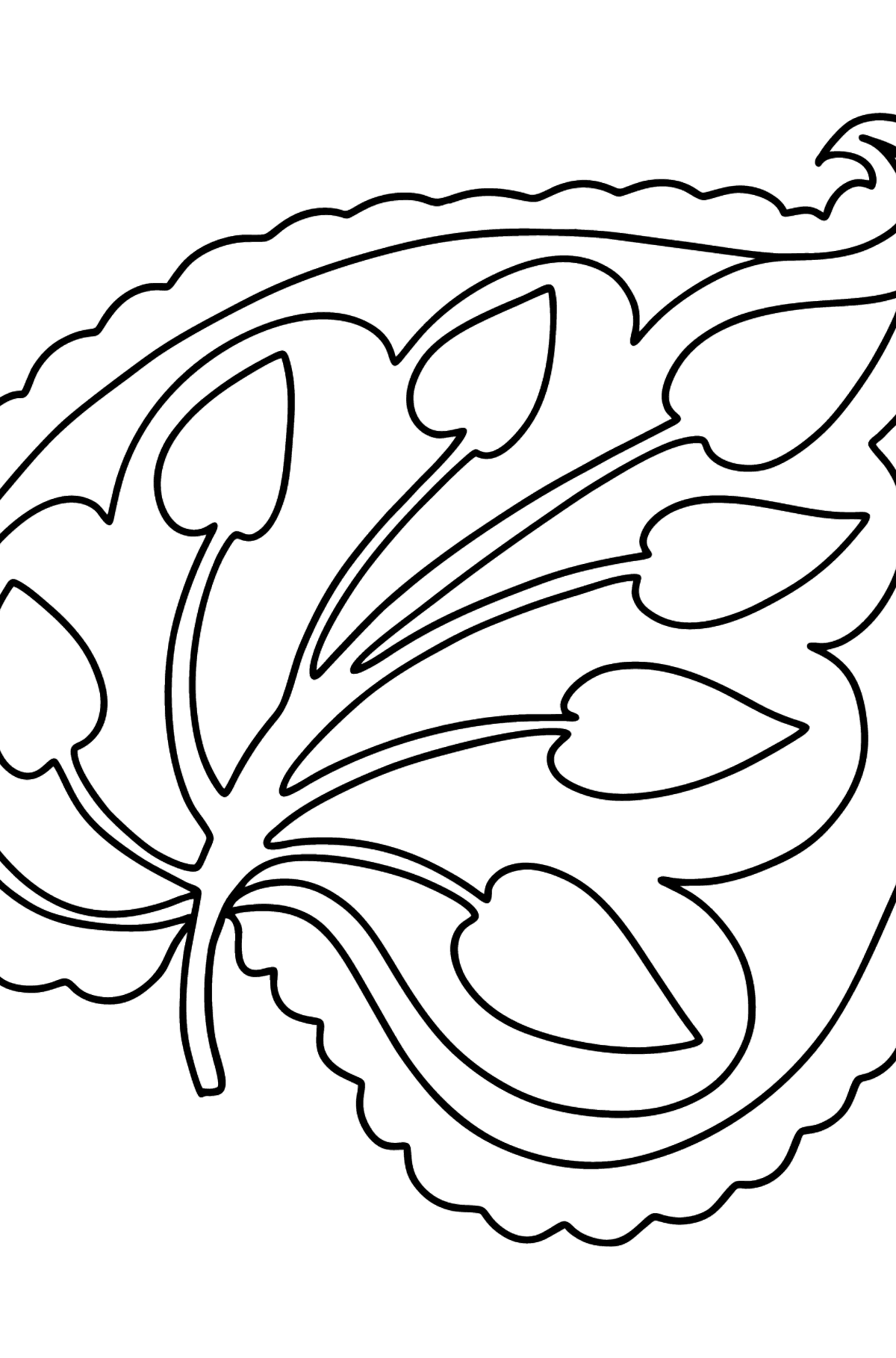 King's Leaf coloring page - Coloring Pages for Kids
