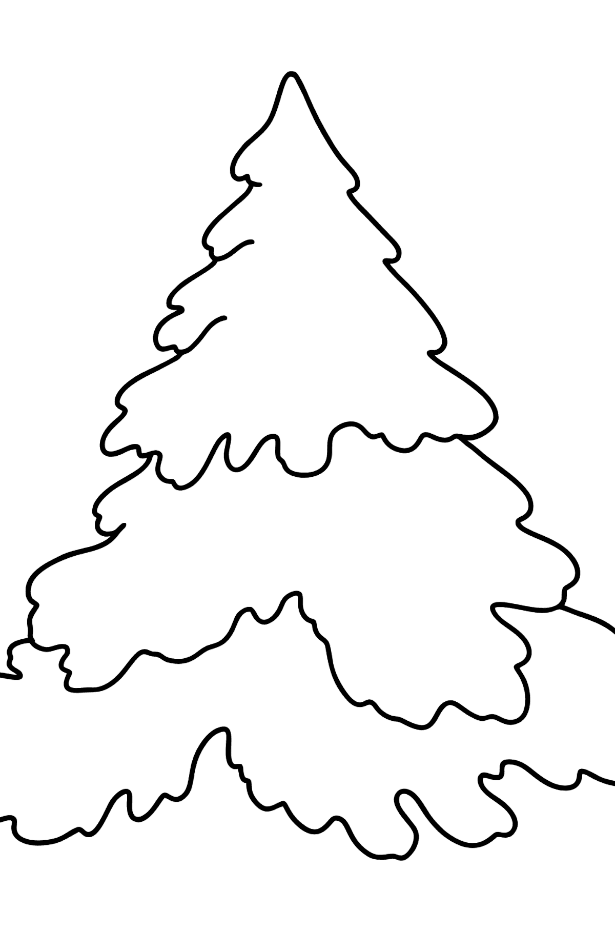 Spruce Tree coloring page - Coloring Pages for Kids