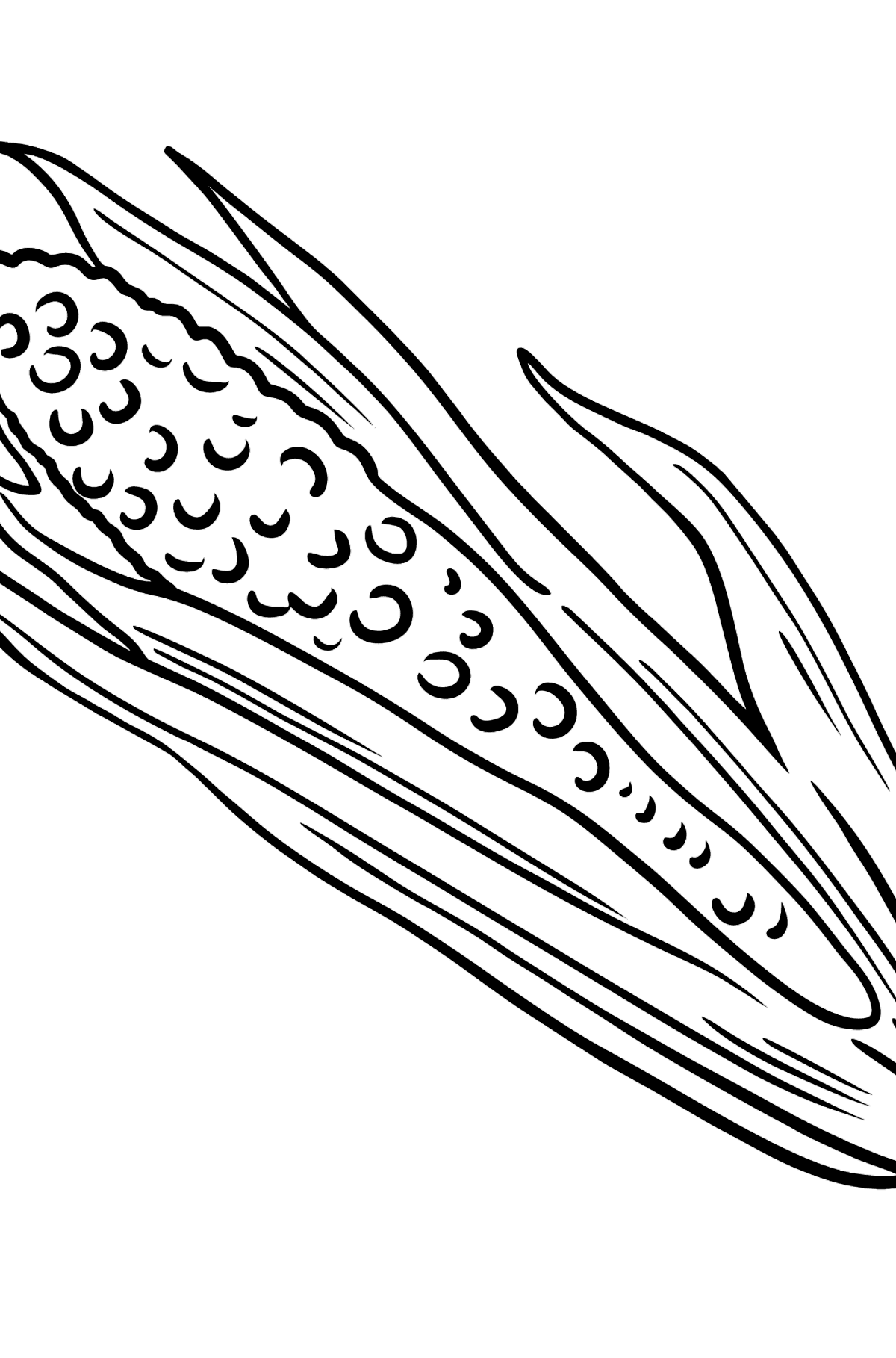 Corn coloring page - Coloring Pages for Kids