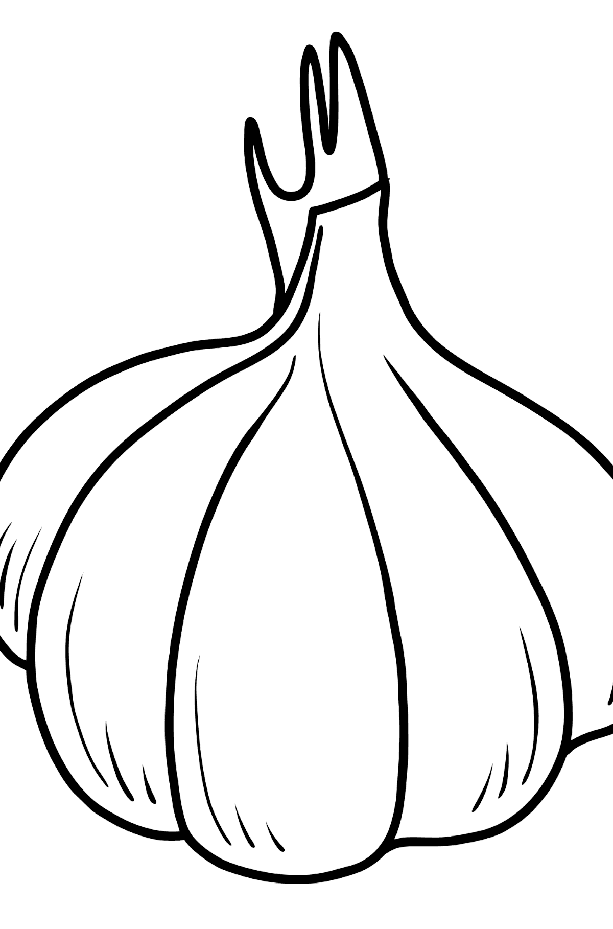 Garlic coloring page - Coloring Pages for Kids